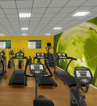 Computer generate image of gym design